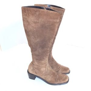 Nordstrom brand brown suede knee high boots 7.5
